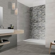 "AREZZO Porcelain Tiles 8"" x 20"" for walls."