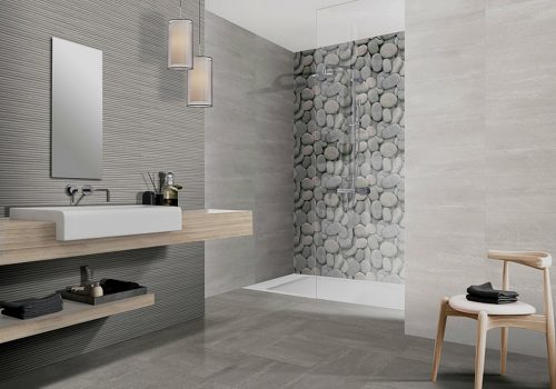 "AREZZO Porcelain Tiles 8"" x 20"" for walls."