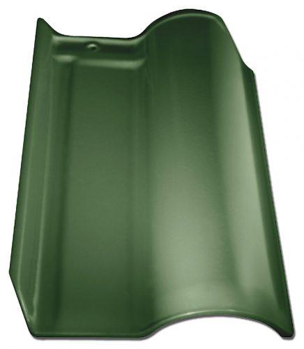 WAVE GREEN CERAMIC ROOF TILE