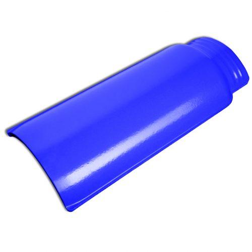 WAVE Blue roof ridge tile.